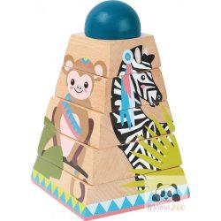 építő piramis torony